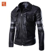 Горячие Biohazard игры Resident Evil 6 Леон куртка Господа мотоцикл верхняя одежда кавалер мужчины Босоножки из искусственной PU кожи человек пальто