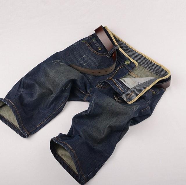 2016 Nova chegada Da Marca de Verão Dos Homens calças de Brim Curtas dos homens do Algodão Shorts Homens Grandes Roupas Venda Moda masculina Calças Curtas Livre grátis