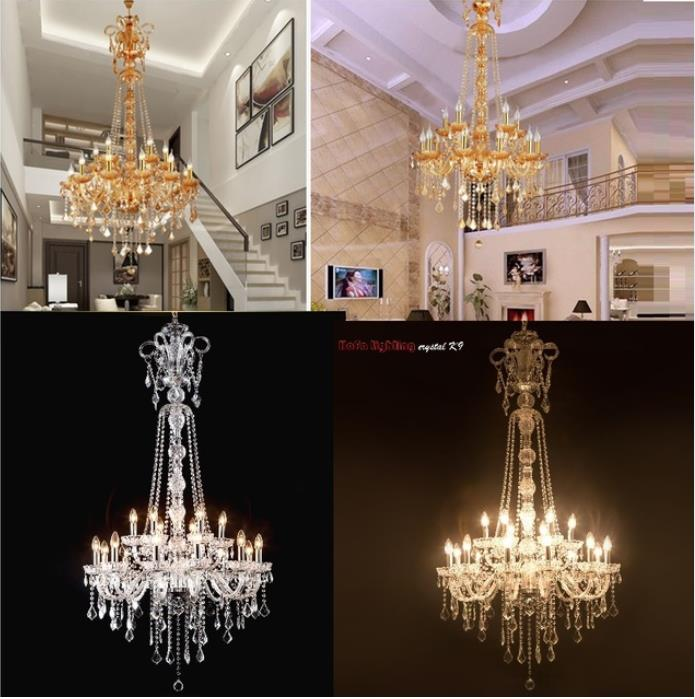 Long Stair Chandelier Crystal Large Foyer Light Modern Fashion Living Room Dining Hall Complex Staircase Lighting chandelierLong Stair Chandelier Crystal Large Foyer Light Modern Fashion Living Room Dining Hall Complex Staircase Lighting chandelier