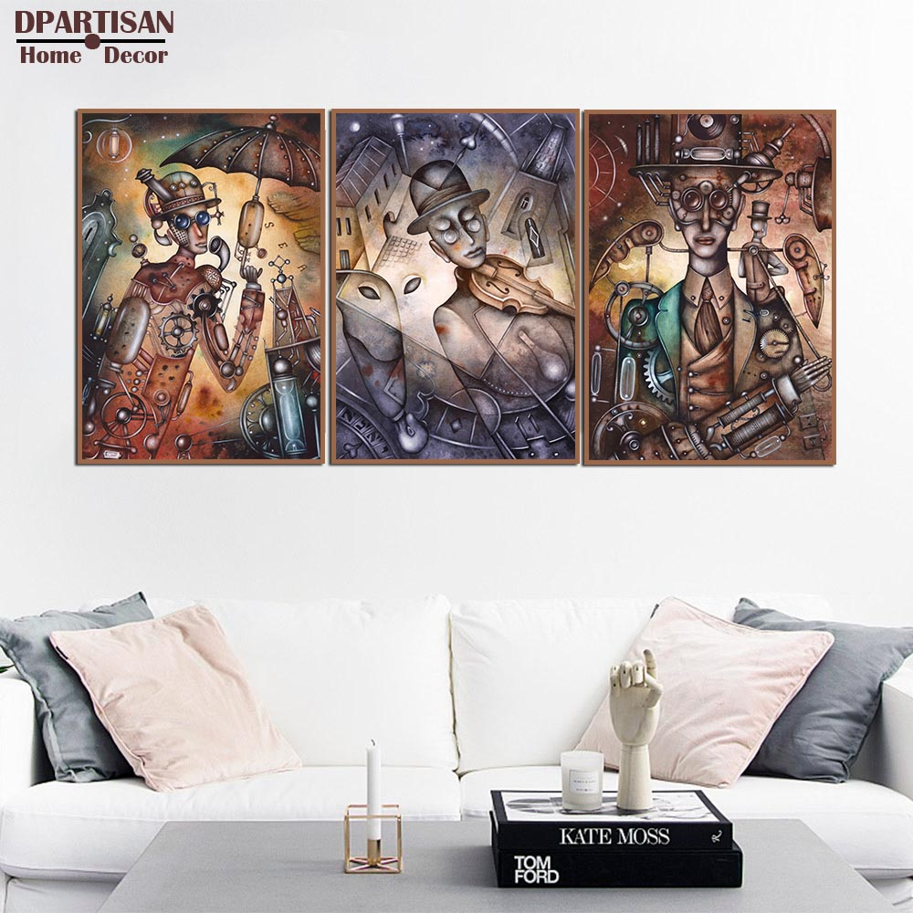 DPARTISAN Vintage steampunk wall Canvas Art Print Painting Poster ...
