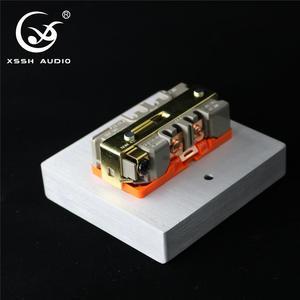 Image 2 - XSSH Audio YS36 # DIY toma de corriente de entrada eléctrica HIFI, chapado en cobre rojo, oro de 24k, 20Amp, 20A, 86x86x20mm, CA, EE. UU. IEC