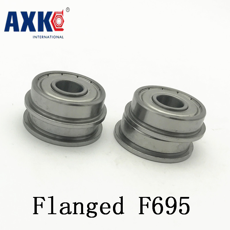 5x13x4 mm 4 PCS F695ZZ Metal Shielded FLANGED PRECISION Ball Bearing Set