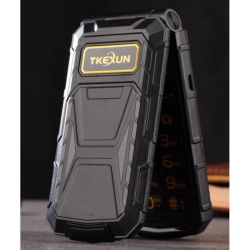 TKEXUN G800 Flip Téléphone Avec Caméra Bluetooth Double Sim Carte 2.4 pouce De Luxe Cellulaire Téléphone