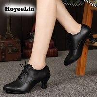 Modern Women Ladies Ballroom Latin Dance Shoes Lace Up Genuine Leather Tango Salsa Dancing Shoes