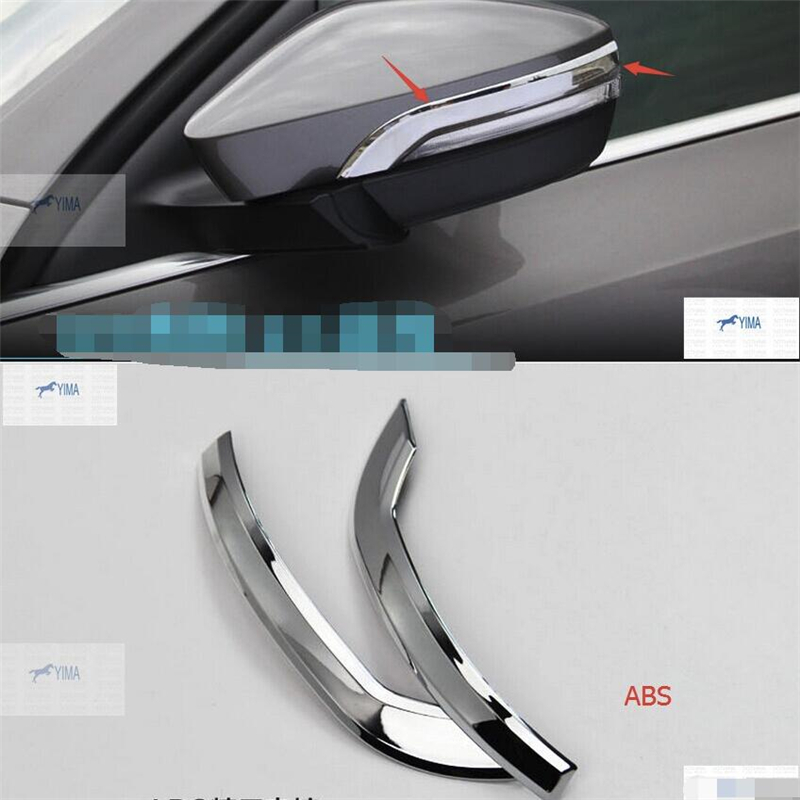 Rearview Mirror Strips For Mazda2 Mazda3 2 3 Chrome Cover Trims Accessories