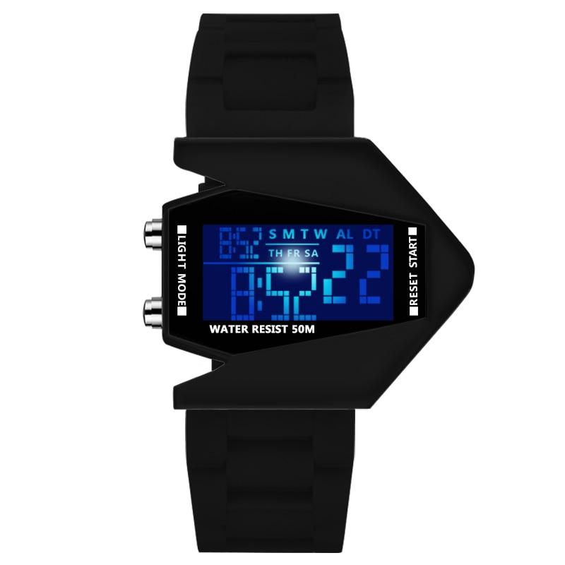 Bracelets de sécurité pour enfants garçon vie horloge étanche hommes femmes mode lumineux électronique mouvement étudiant montres cadeau