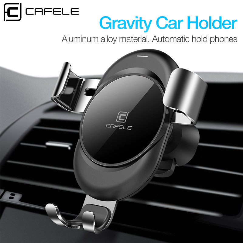 Cafele Car Phone Holder Gravity Automatic Locking Technology Holder for Phone in Car Air Vent Car Mount Phone Holder