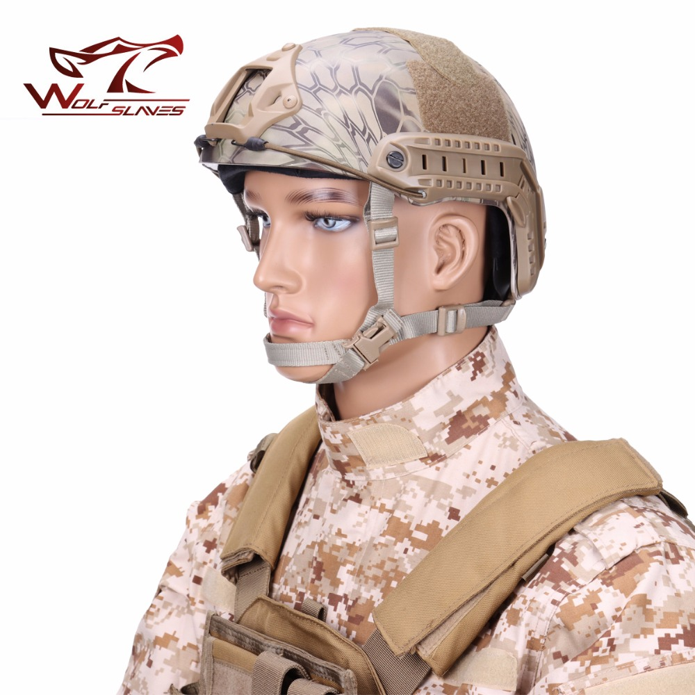 FAST-MH Tactical Helmet Navy Edition Helmet Army Military Head Protector Airsoft Head Ge ...