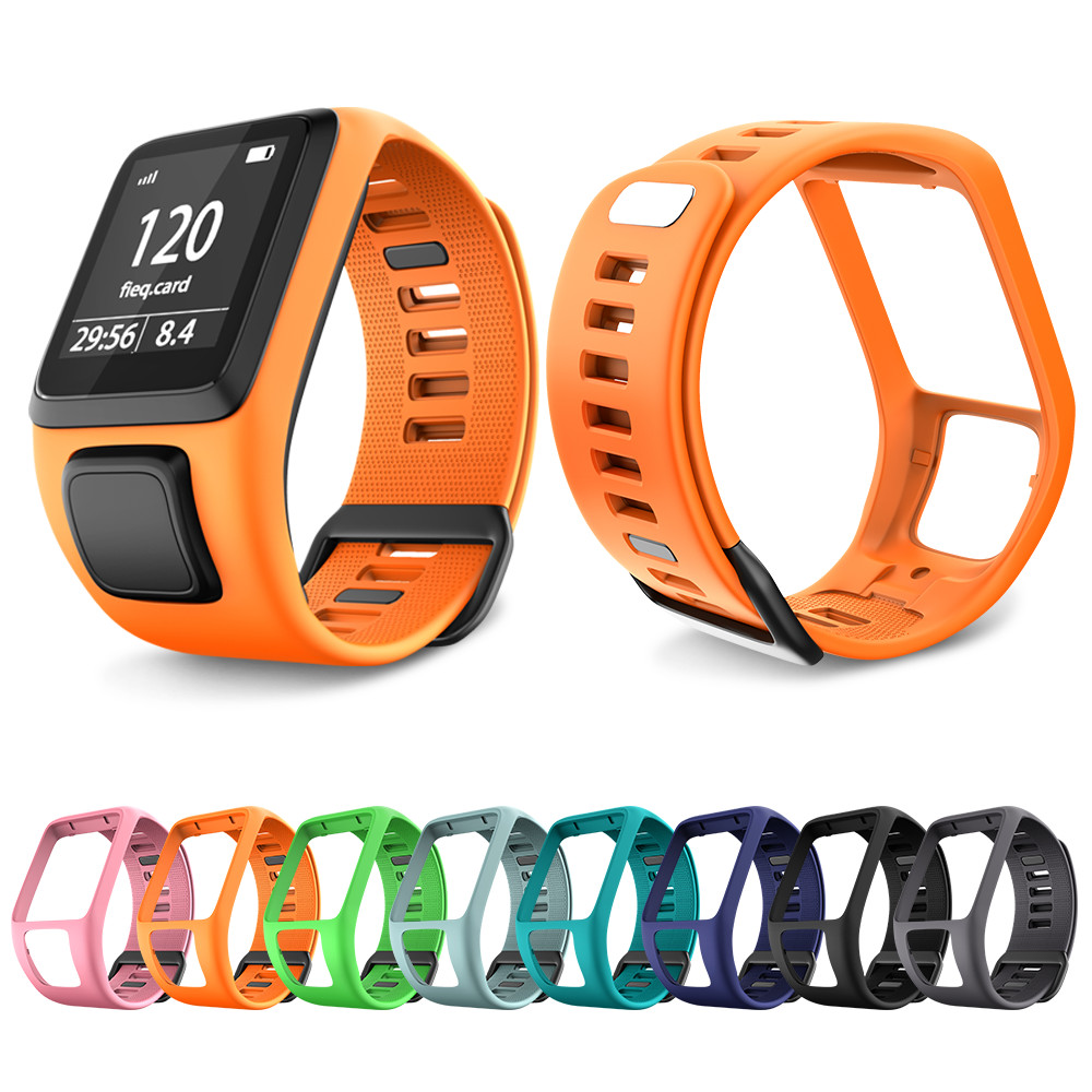 Soft Silicone Watchband Wrist Band Replacement Strap For TomTom/Adventurer/Runner 2/3/Spart Sport Silicone Band For TomTom Watch