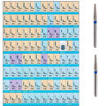 100pcs Dental Diamond Burs for High Speed Handpiece Medium FG 1.6MM Taper Round End Tapered Flat End Assorted Types