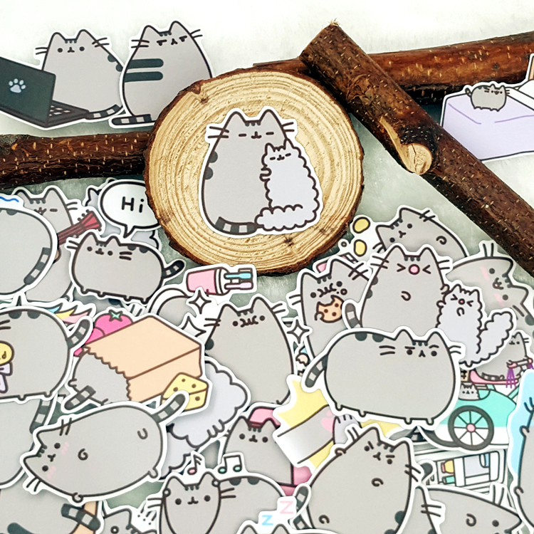 40pcs/bag Fat Cat Lovely Style Album Scrapbook Waterproof Decoration Stickers DIY Handmade Gift Scrapbooking Sticker