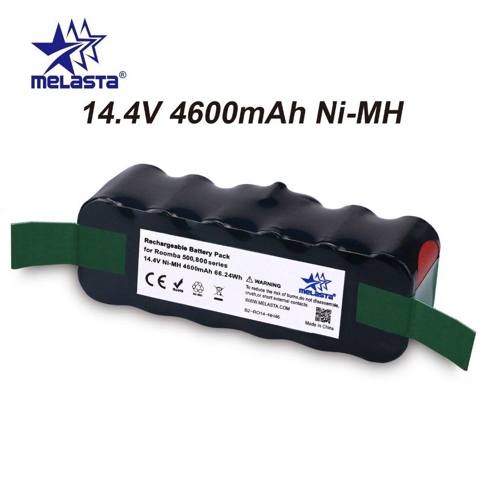 Aggiornato Capacità 4.6Ah 14.4 v NIMH batteria per iRobot Roomba Serie 500 600 700 800 510 530 550 560 620 650 770 780 870 880 R3