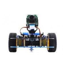 Набор для сборки роботов AlphaBot Pi Acce, платформа AlphaBot + камера для Raspberry Pi 3B 2B B + с адаптером питания для США/ЕС
