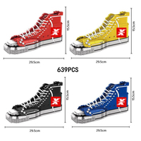 Classic basketball sport shoe nanoblock famous brand convers nanoblock assemable model moc bricks toys collection for kids gifts