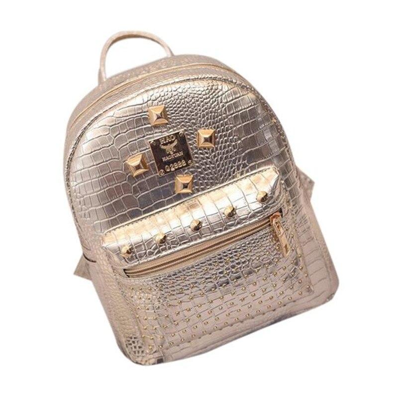 New Arrival Women Leather Travel Backpack School Backpacks Mochila Gilrs Zipper Pocket Backpack Mochilas Femininas
