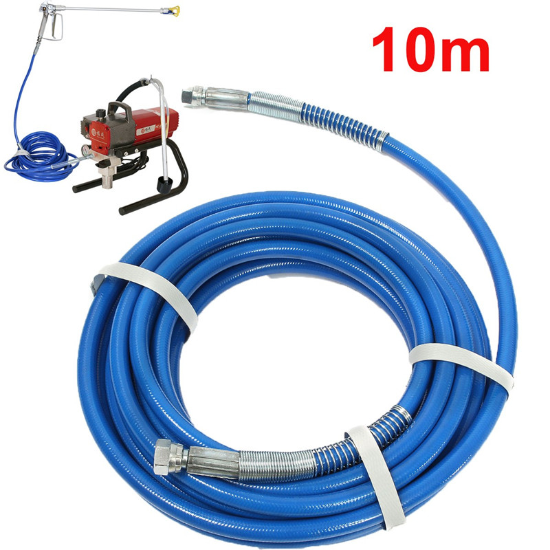 High Pressure Pipe 10m 5000psi Airless Paint Spray Hose For Spary Gun Sprayer Water 50' x 1/4 Sprayer Airless Paint Hose Tool
