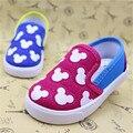Koovan Sapatilhas Do Bebê 2017 das Crianças do Bebê Das Meninas Dos Meninos das Sapatas de Lona Dos Desenhos Animados Do Rato Bordo Macio Mocassins Primeiros Sapatos Da Criança Walker