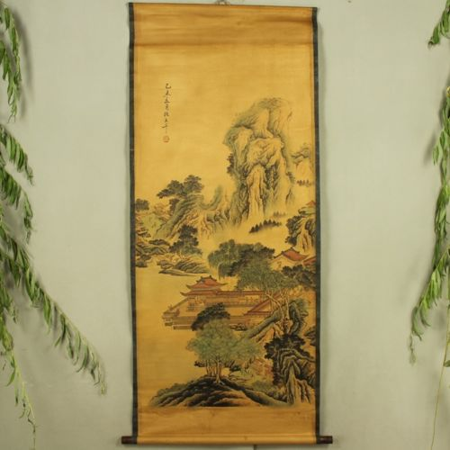 Exquisite Chinese Antique collection Imitation ancient Landscape painting Picture No 10 in Painting Calligraphy from Home Garden