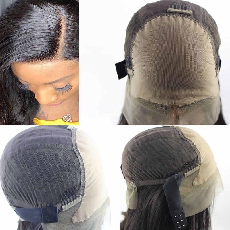 13x6 nudos blanqueados cuero cabelludo falso Invisible Frontal Bob Peluca de encaje frente pelucas de cabello humano mujeres parte profunda peruano remy peluca PrePlucked