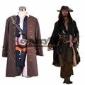 Frete Grátis Personalizado Cosplay Traje Do Pirata Piratas do Caribe Capitão Jack Sparrow Cosplay