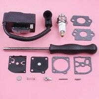 Ignition Coil Spark Plug For Homelite UT10514 UT10516 Carburetor Adjustment Repair Gasket Kit Chainsaw Replacement Spare Part