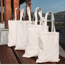 Canvas Tote-Bags Customized-Logo-Printing Reusable Cotton Grocery Eco-Friendly with 500pcs/Lot