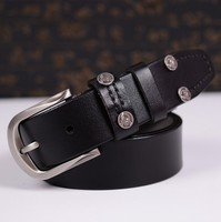 Eshopping New Hot Cow Leather Men Belt High Quality Male Cowhide Belts Men Belts Strap with Rivet Free Shipping