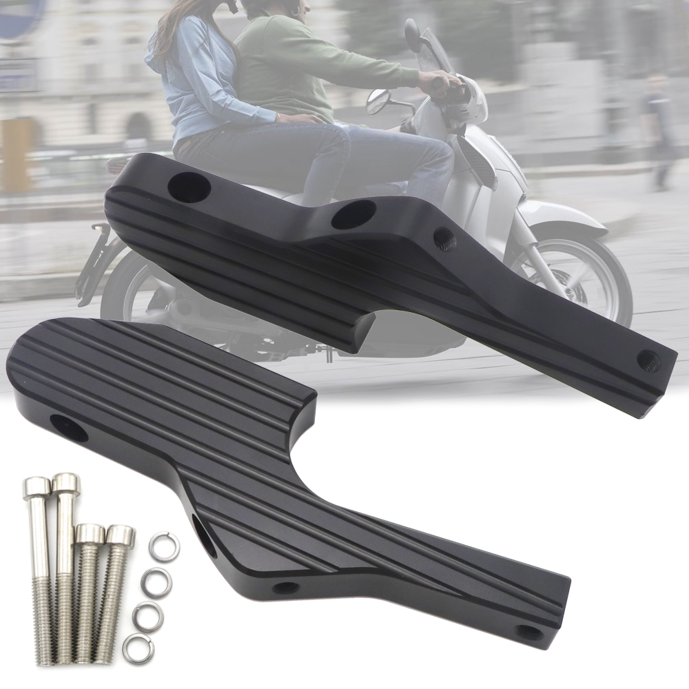 New Passenger Foot Peg Extensions Extended Footpegs For Vespa GT GTS GTV 60 125 200 250 300 300ie Vespa Motorcycle Accessories