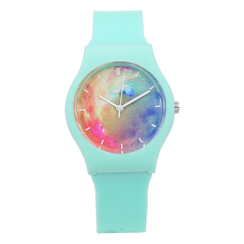New Fashion Harajuku Star Kvinder Vandtæt sportsjelly Watch Simple - Dameure - Foto 3