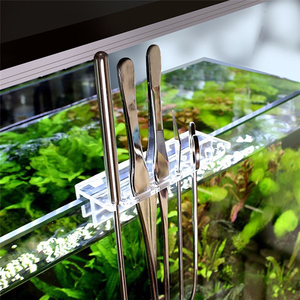 Image 4 - New Aquarium Scraper Tools Kit Tweezers Curve Scissor Storage Holder Fish Tank Water Plants Grass Stainless Steel Cleaning Tool