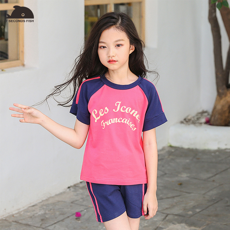 Girls Clothing Sets 2018 New Summer Clothing Sets Kids Clothes Unicorn Printed T-Shirt+Pants 2Pcs Suit For 3-12 Years