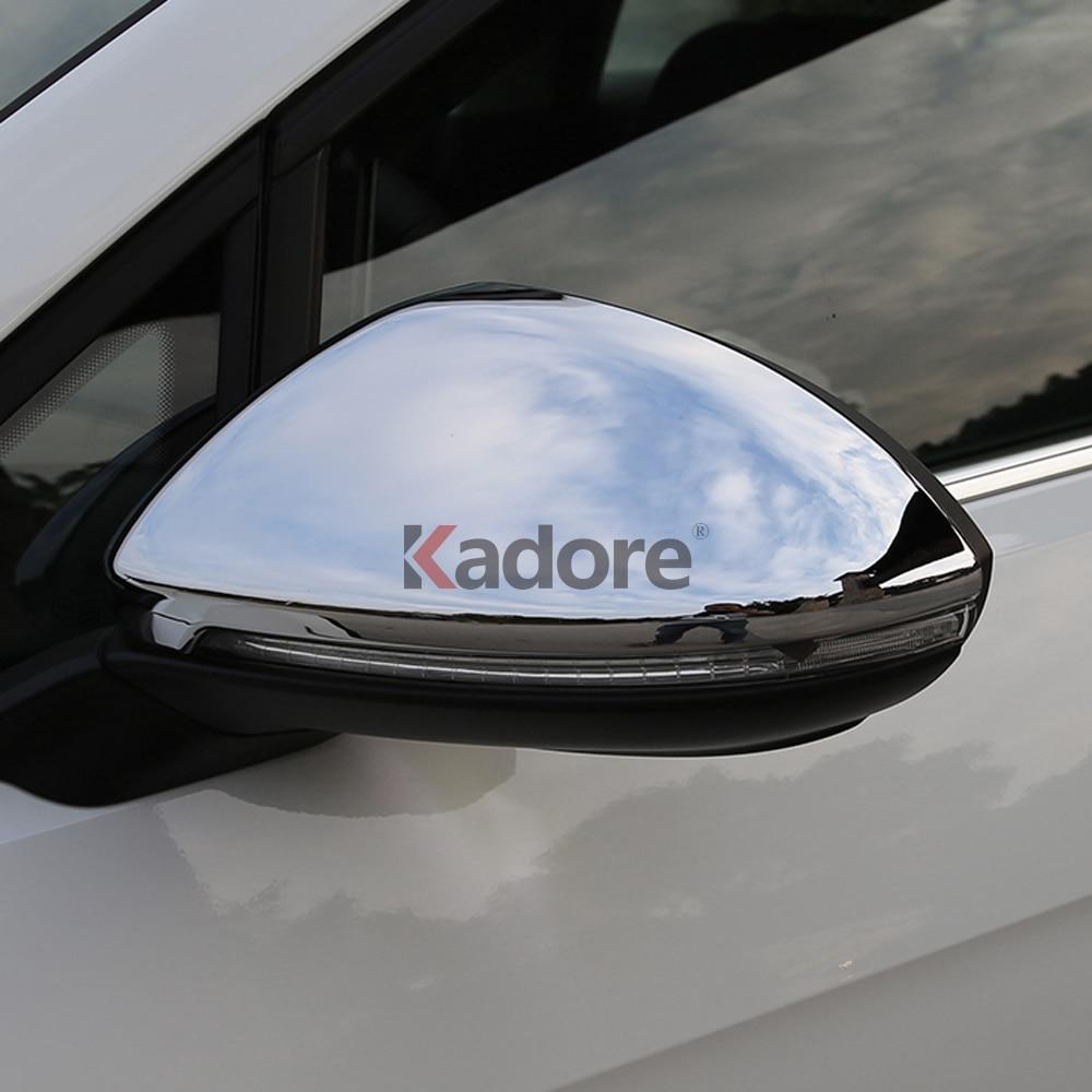 df0573367 ABS مطلي بالكروم باب جانبي مرآة الرؤية الخلفية غطاء الزخارف اكسسوارات  السيارات لفولكس واجن VW GOLF السابع 7 MK7 GTI Golf72013 2014 2015 2016 2017  2018 2 ...