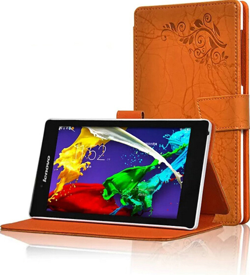 ocube Folio Stand Print Pattern PU Flower Leather Case Cover For Lenovo Tab 2 A7-30HC A7-30TC A7-30GC A7-30DC + Film +Stylus ocube dhl ems free folio stand printing pattern pu flower protective leather case cover for teclast 98 octa core 10 1 tablet