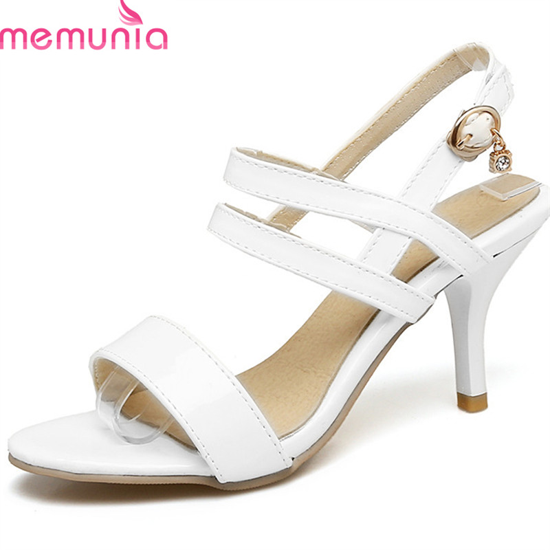 MEMUNIA 2019 new style women sandals simple buckle fashion shoes big size 35-47 sweet pink party wedding shoes high heels shoesMEMUNIA 2019 new style women sandals simple buckle fashion shoes big size 35-47 sweet pink party wedding shoes high heels shoes
