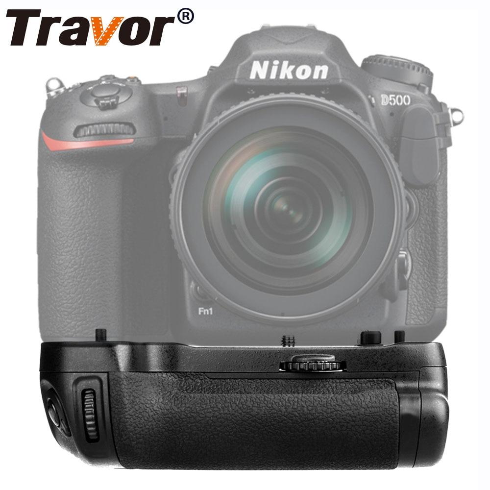 Nikon D500 DSLR kameras vertikālais vertikālais akumulatora turētājs darbam ar akumulatoru EN-EL15 kā MB-D17