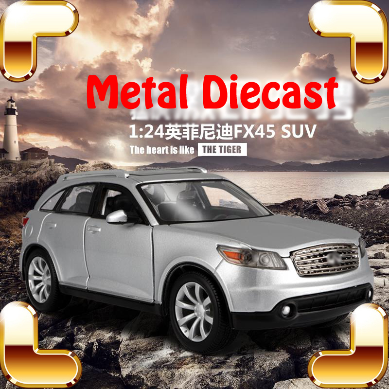 New Arrival Gift FX45 1/24 Metal Model SUV Car Vehicle Models Scale Diecast Collection Alloy Car Front Decoration Big Toys Car maisto jeep wrangler rubicon fire engine 1 18 scale alloy model metal diecast car toys high quality collection kids toys gift