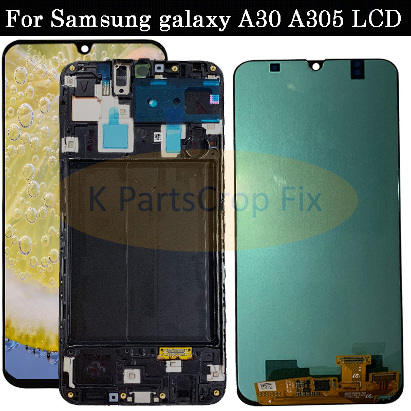 Super AMOLED For Samsung galaxy A30 lcd 2019 Touch Screen Digitizer Assembly A305 DS A305F A305FD