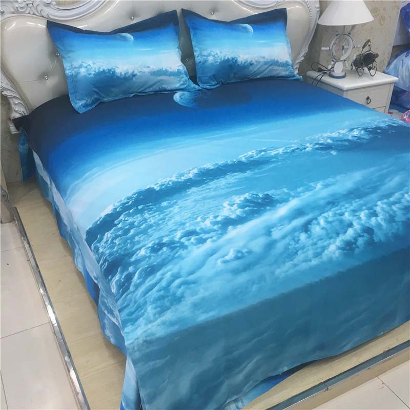 Hot 3d Galaxy bedding sets Twin/Queen Size Universe Outer Space Themed Bedspread 2/3/4pcs Bed Linen Bed Sheets Duvet Cover Set 46