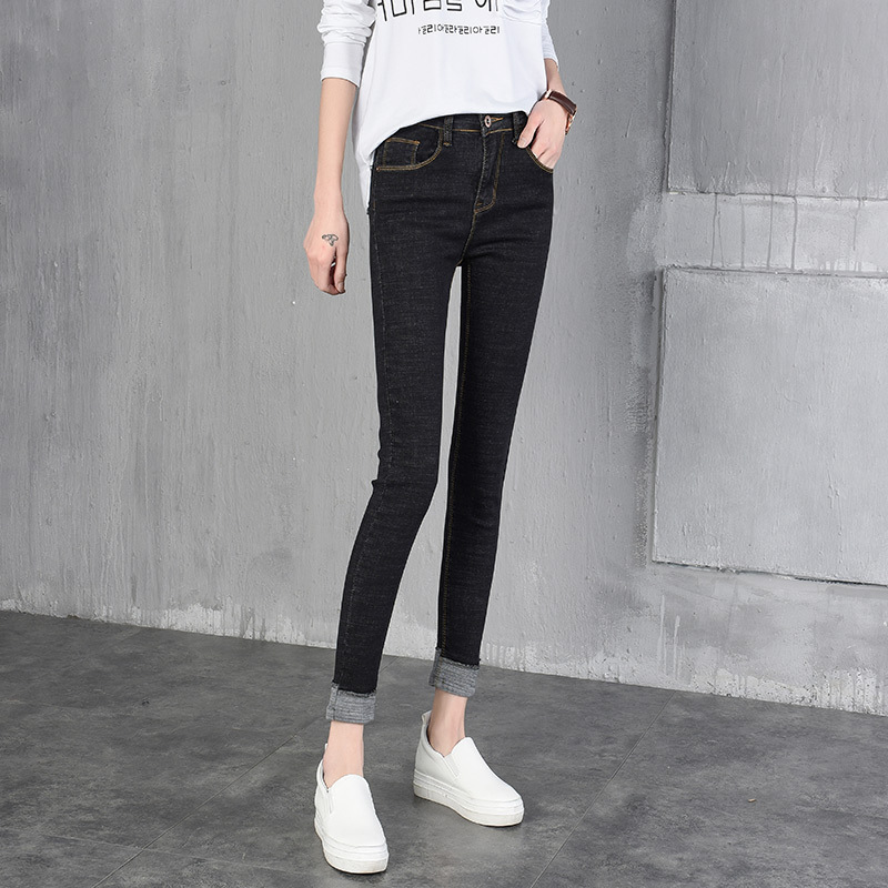 SIKETU The new woman wearing nine jeans tight waisted black pencil feet Leggings Korean women in spring and summer