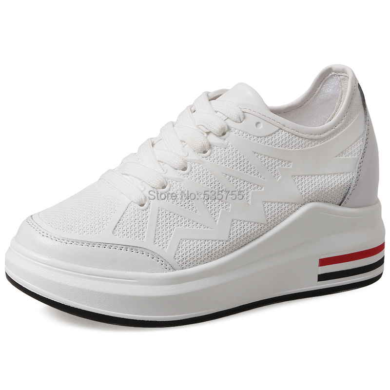 Summer New Spring Fashion Lady Casual White Shoes Women Sneaker Black Leisure Thick Soled Shoes Flats Cross-tied Lace Up Soft 2017 new spring imported leather men s shoes white eather shoes breathable sneaker fashion men casual shoes