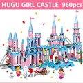 Large Building blocks 960Pcs  Super Large Set Compatible with  Minecraft Toys Figures Princess Castle Bricks Toys for Girls