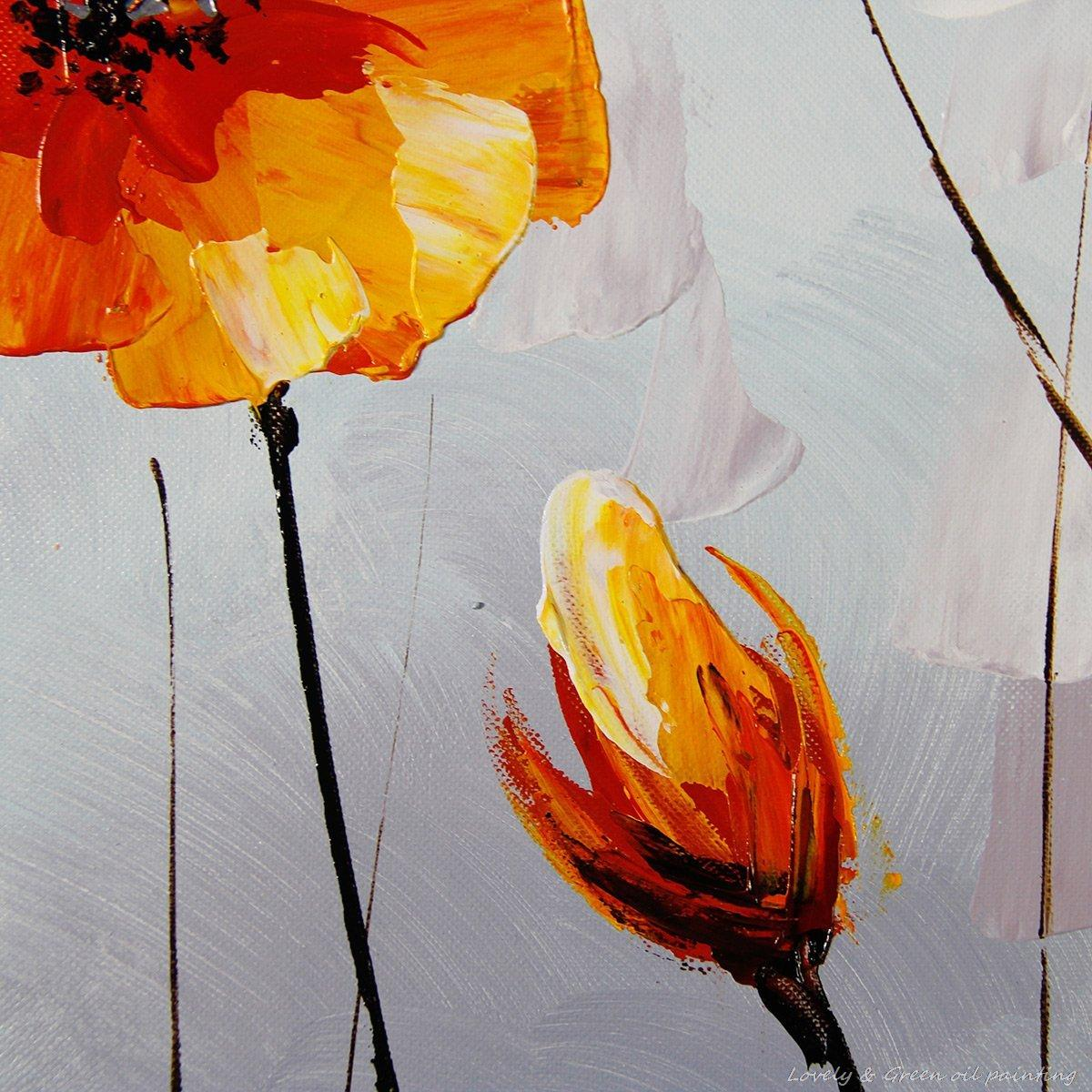Hand painted orange yellow flowers oil painting on canvas modern hand painted orange yellow flowers oil painting on canvas modern decorative wall art paintings for living room home decor in painting calligraphy from mightylinksfo