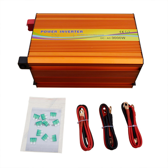ECO-SOURCES 3000W Inverter 24V to 110V Off Grid Inverter 3KW 110V  Inverter for Solar Panel Solar System