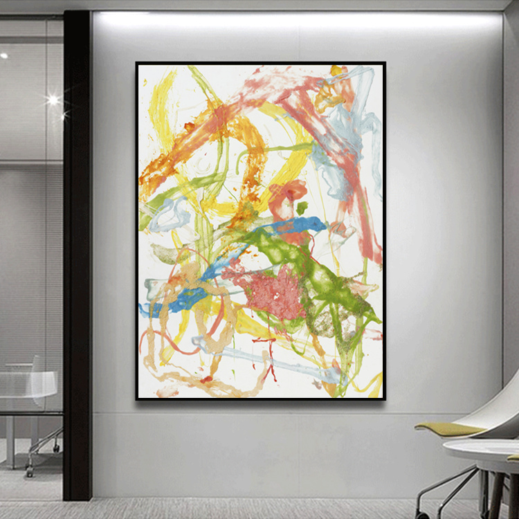 Modern Abstract Painting Canvas Home Decor Living Room Dining Vertical Hanging Wall Art Picture HD Printings