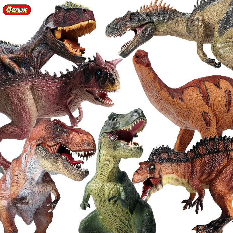 Oenux Prehistoric Jurassic Dinosaurs World T-REX Pterodactyl Spinosaurus PVC Animals Model Action Figures Toy For Boy's Gift mexican made easy