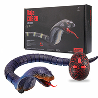 RC Squishy Toys Anti stress Realistic Infrared Remote Control Snake Large Cobra Simulation Animal Snake
