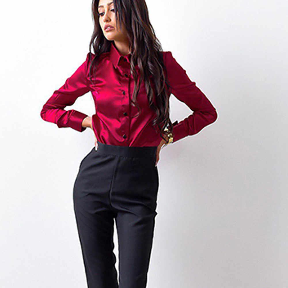 Женские блузки кимоно модные повседневные укороченные топы с длинными рукавами и отложным воротником блузки сорочка женская офисная одежда