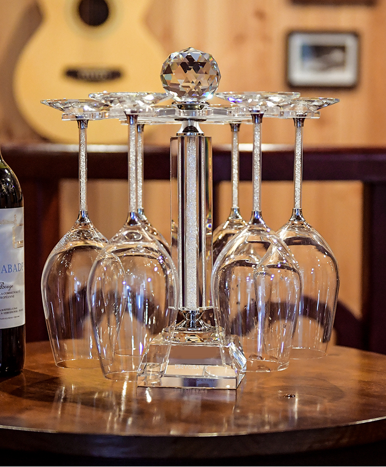 1 Pieces Rotatable Crystal Wine Glasses Stand Novelty Drink Glass Cup - Kitchen, Dining and Bar