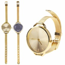 High quality!Classic Quartz Women Lady Fashion Stainless Steel Analog Wrist Watch Bracelet