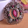 Vintage jóias Zirconia de Prong definir cristal turco chapéu grande pino de segurança de luxo para mulheres